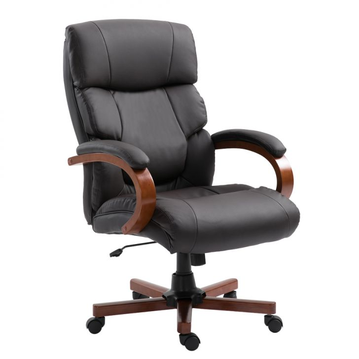 Cadeira De Escritório Presidente Giratória Newark Marrom