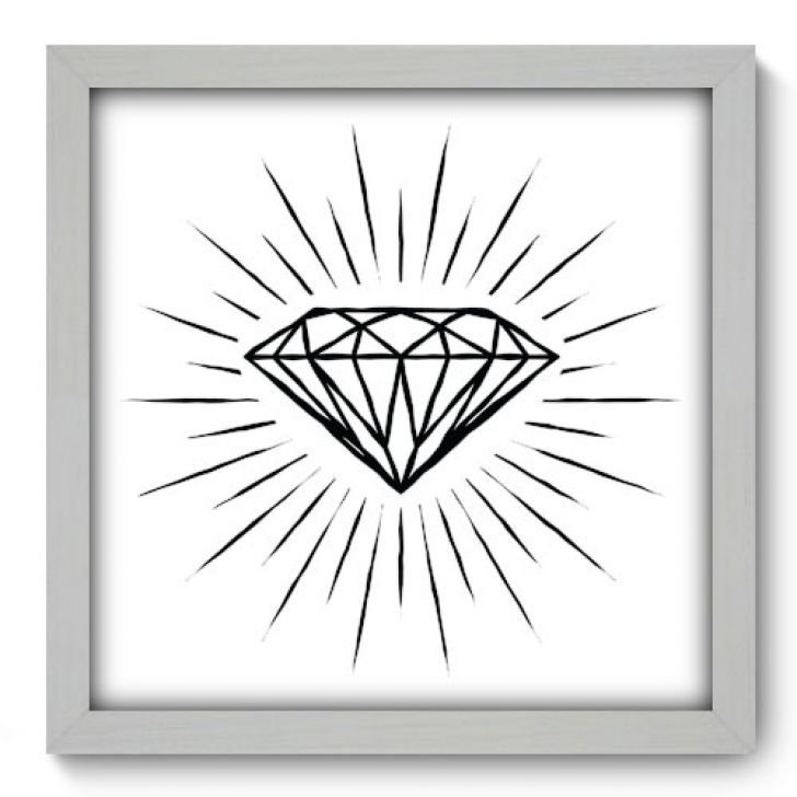 Quadro Decorativo - Diamante - 061qddb