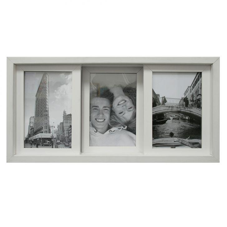 Porta-retrato Para 3 Fotos Pisa Branco