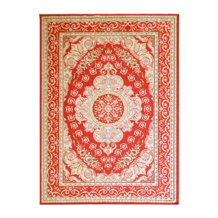 Tapete Kerman Retangular Veludo 248x350 cm Vermelho