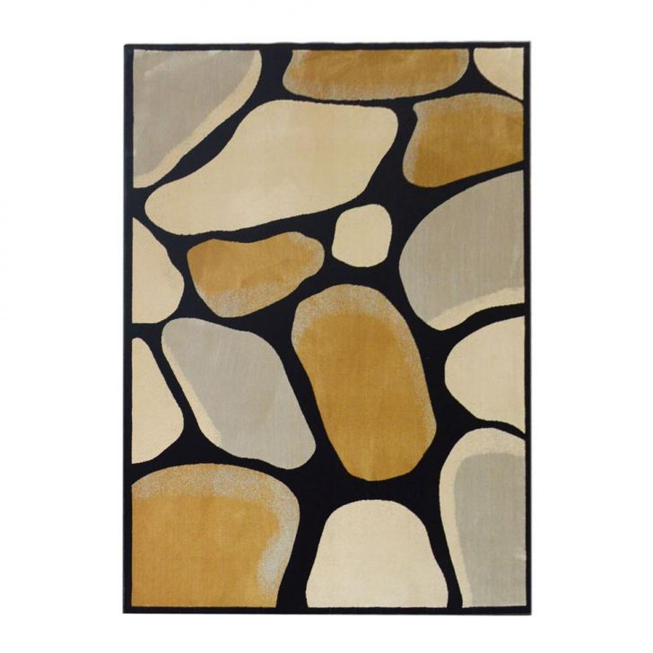Tapete Retangular Veludo Marbella Epic Art Medieval Preto 148x200 cm Cod: 7899084884773