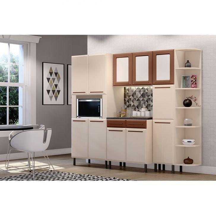 Cozinha Completa Vita 11 Pt 2 Gv Bege E Cobre