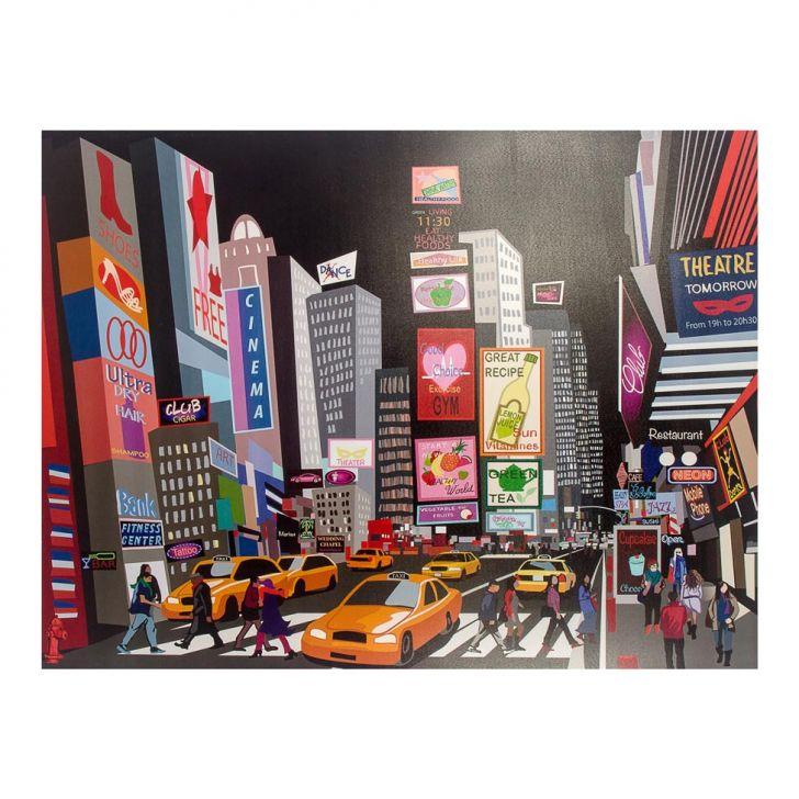 Tela Impressa com Led Desenho City Fullway 120x158x4