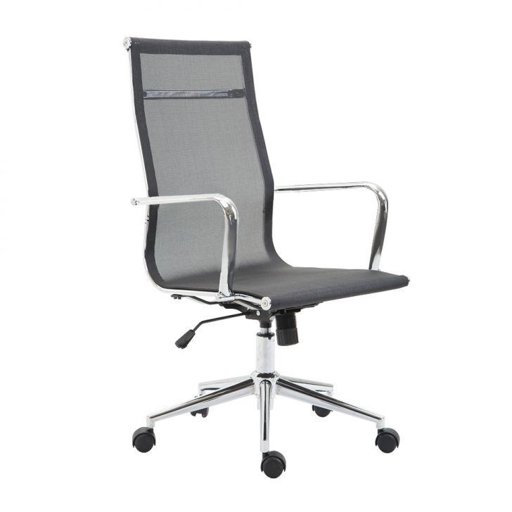 Cadeira De Escritório Presidente Giratória Eames Star Preta