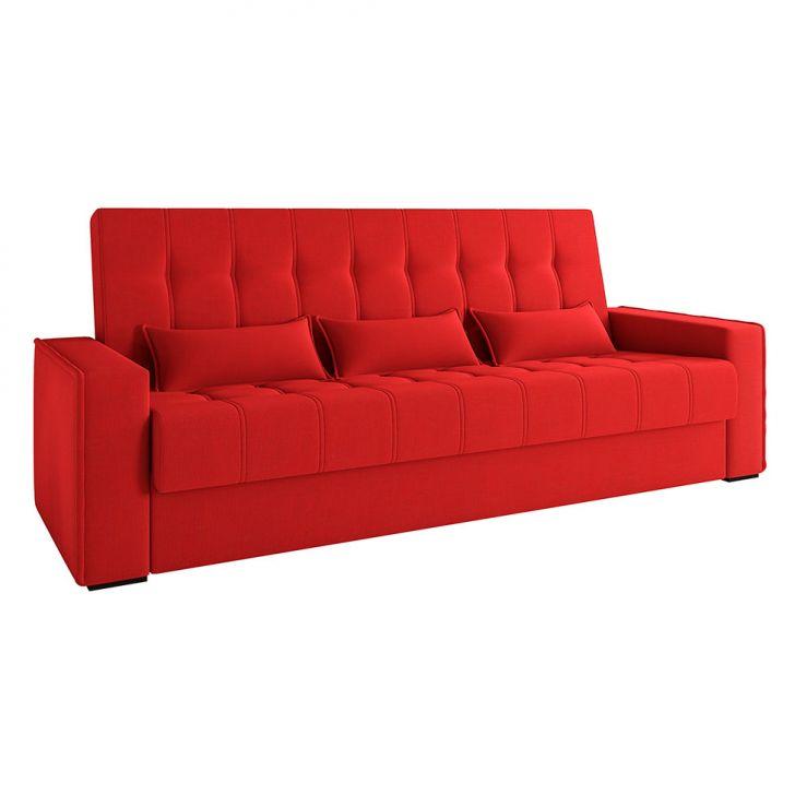 Sofá-cama Casal 3 Lugares Lívia Suede Vermelho