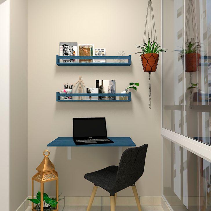 Mesa Para Notebook Dobrável Kitcubos Azul 60 Cm