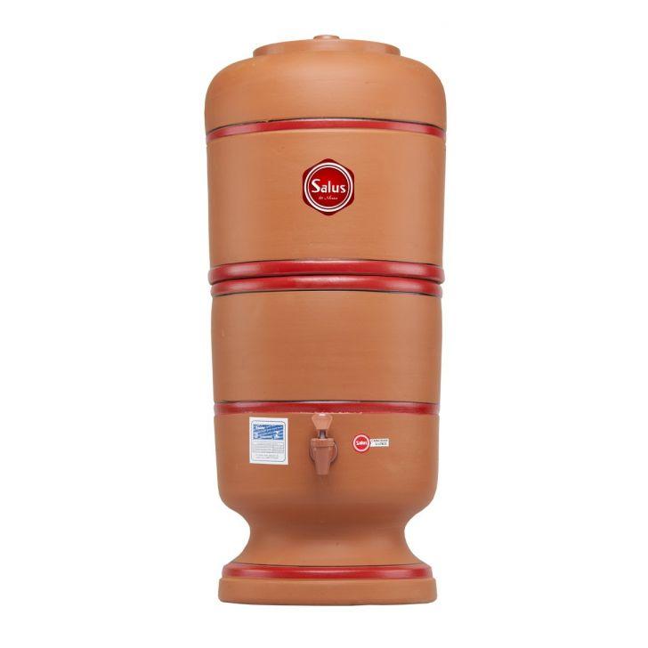 Filtro De Barro P/ Água 8 Litros - 1 Vela Salus