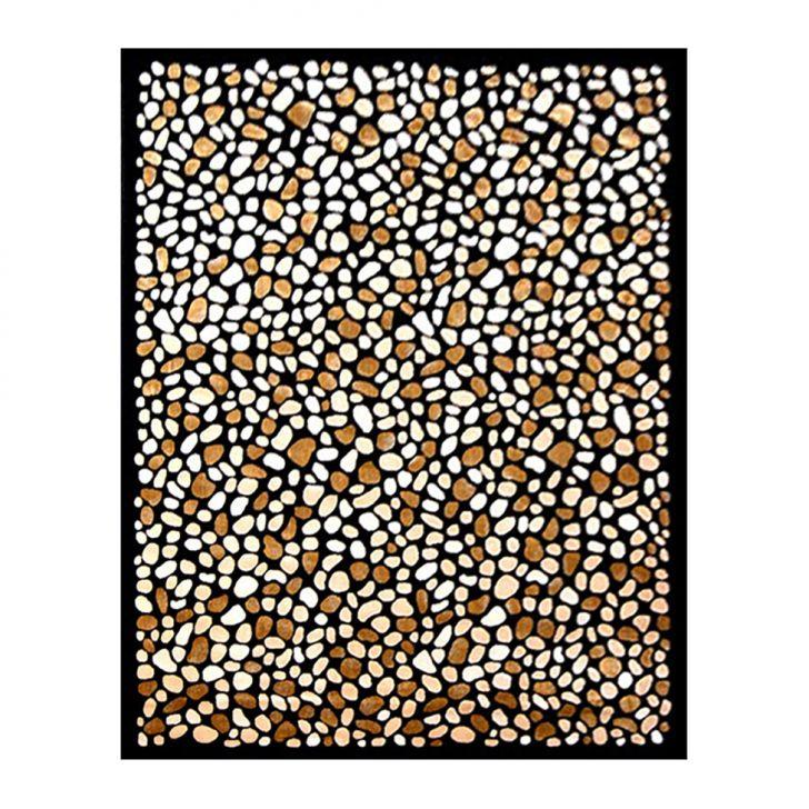 Tapete de Veludo Marbella Pedras 148 X 200 Preto