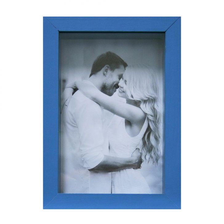 Porta Retrato Caixa Liso 10x15 Azul