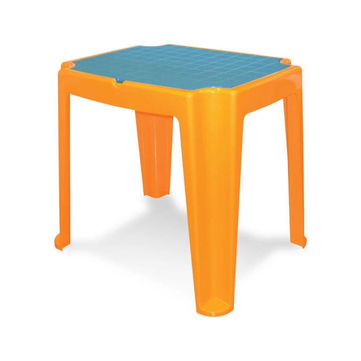 Mesa infantil Versa com tampa azul e laranja Cod: 7898187046286