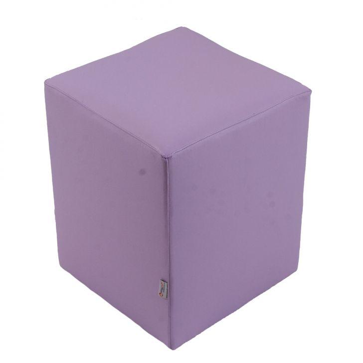 Puff Cubo Pop Corino Lilás