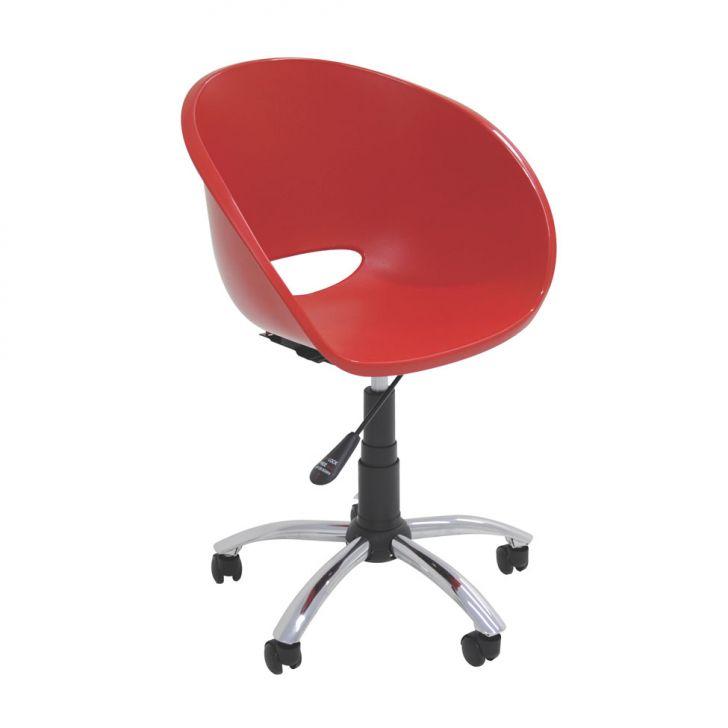 Cadeira de Escritório Elena com Rodízio Vermelho