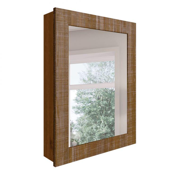 Espelho De Banheiro Retangular Inova Marrom