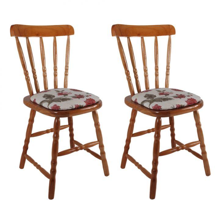 Conjunto Com 2 Cadeiras Dalas Floral Ii Mel