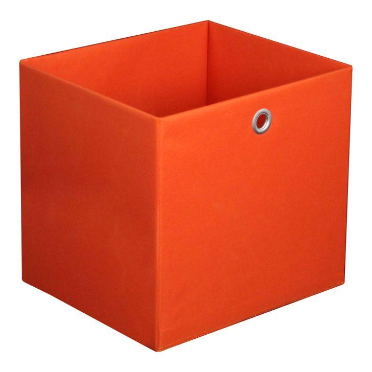 Caixa Organizadora Retangular Grande Laranja 30x32x28 Cm Acasa Móveis
