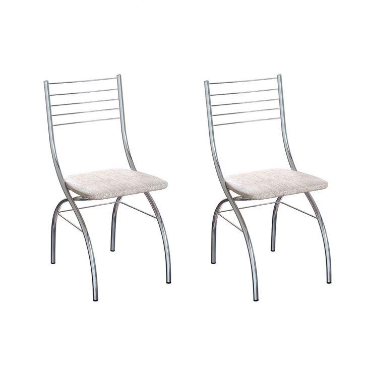 Conjunto Com 2 Cadeiras De Cozinha Lizzy Palha E Cinza