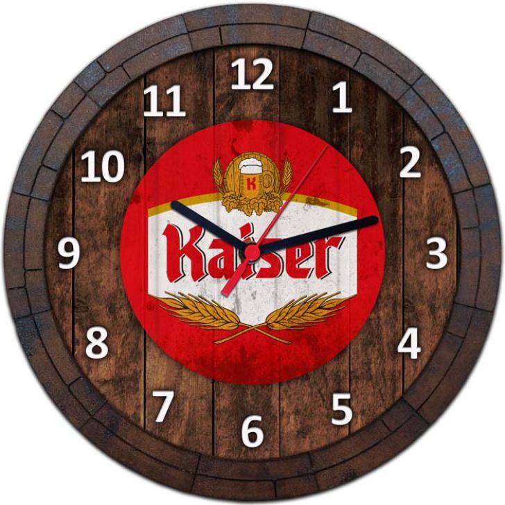 Relógio De Parede Quadro Tampa De Barril Tema Cervejas Vodka Bebidas W-074