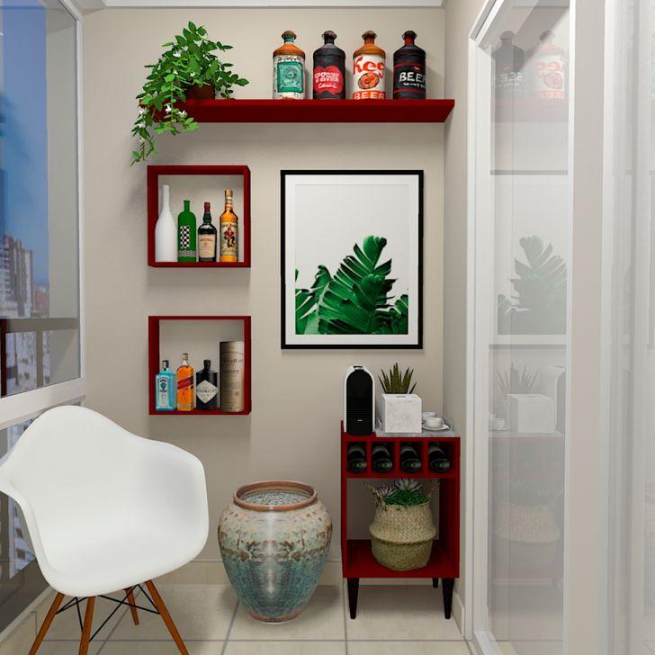 Prateleira Flandres Vermelha