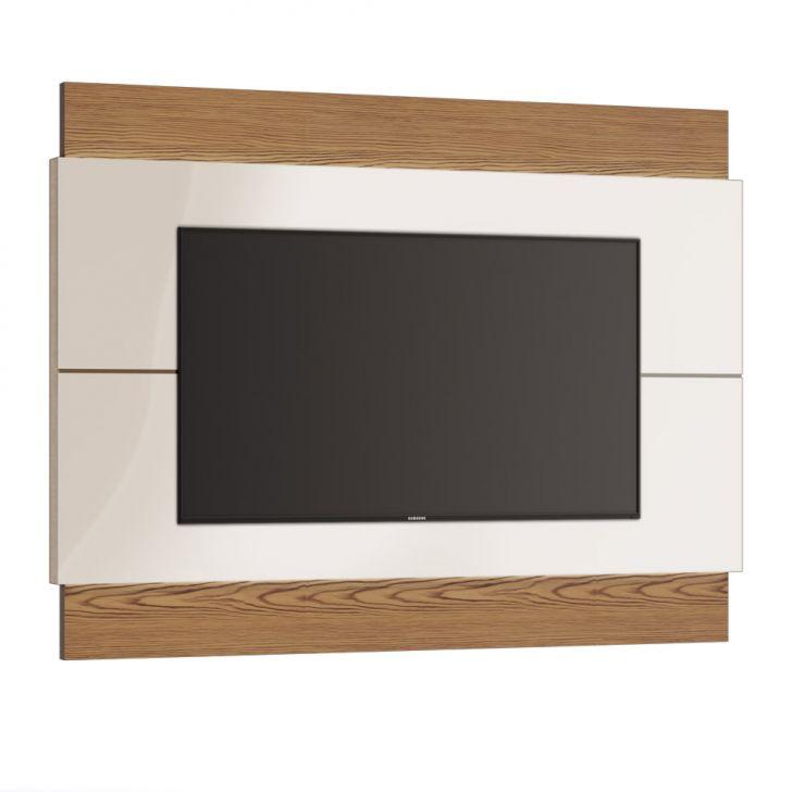 Painel Para Tv 60 Polegadas Classic Ii Off White Com Freijó Touch