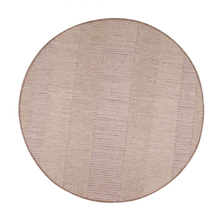 Tapete Natural Look 150cm Bege Sl1220-Cor2 Redondo