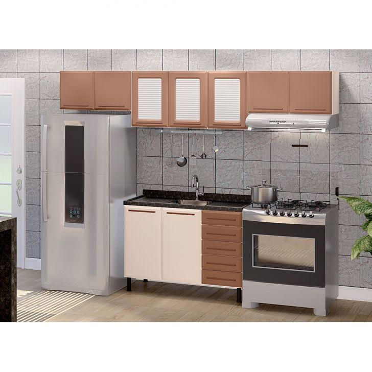 Cozinha Completa Vita 9 Pt 5 Gv Bege E Cobre