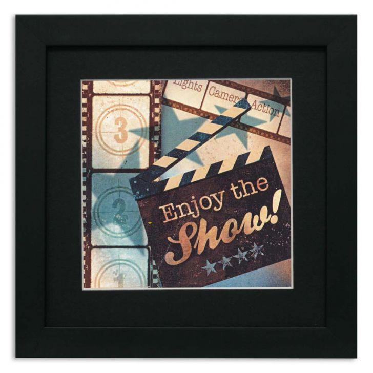quadro-de-aviso-enjoy-the-show-36x36cm-preto-kapos