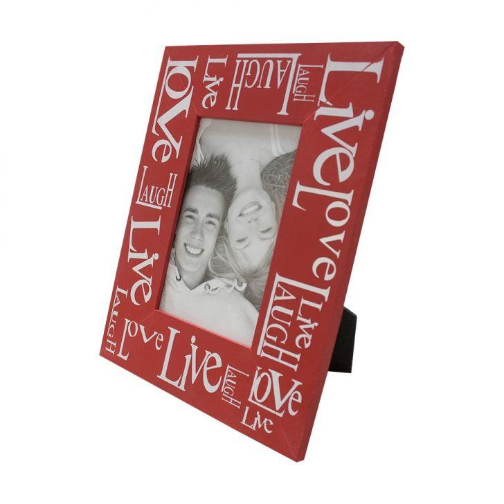 Porta Retrato Love Live 19x24cm Vermelho Para 1 Foto 10x15cm