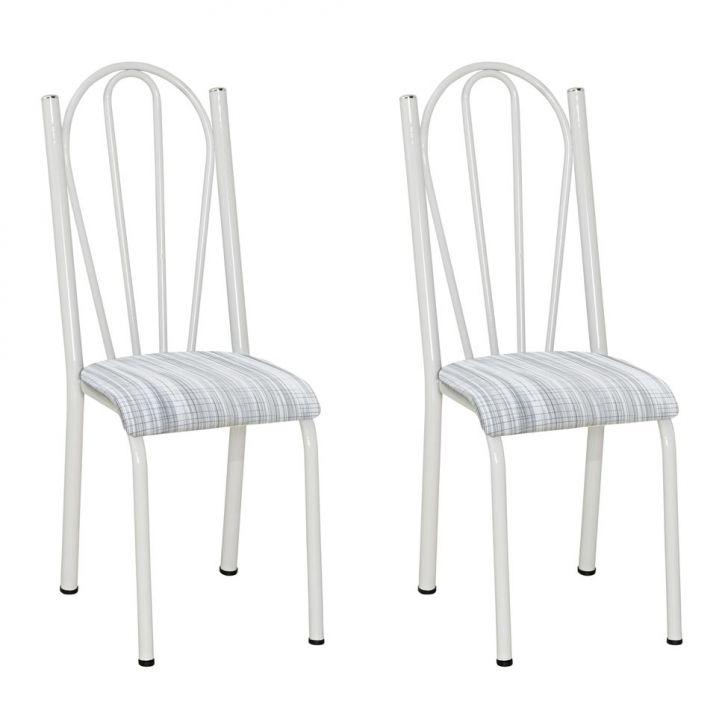 Conjunto 2 Cadeiras Mnemósine Branco E Linho