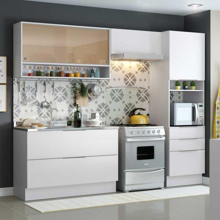 Cozinha Compacta Linear 6 Pt 3 Gv Branca