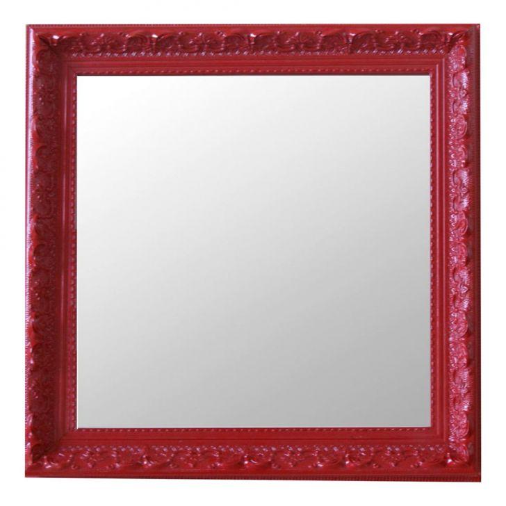 Espelho Moldura Rococó Raso 16395 Vermelho Art Shop