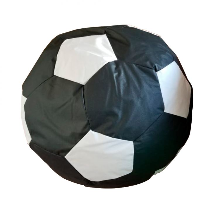 Puff Big Ball Futebol Pop Preto E Branco