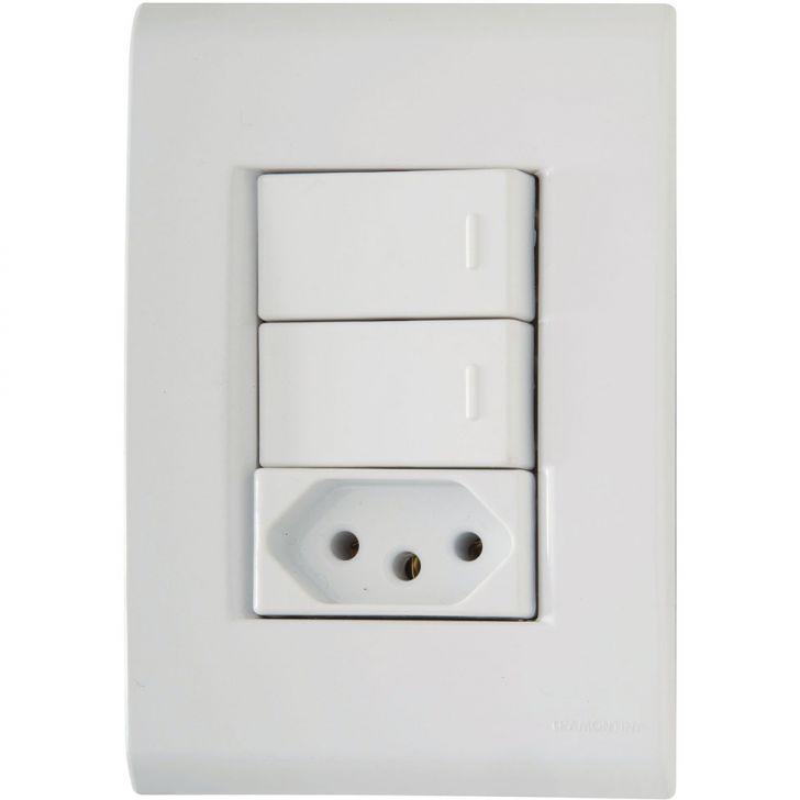 Conjunto 2 Interruptores Paral. + Tomada 2P+T 20A-250V