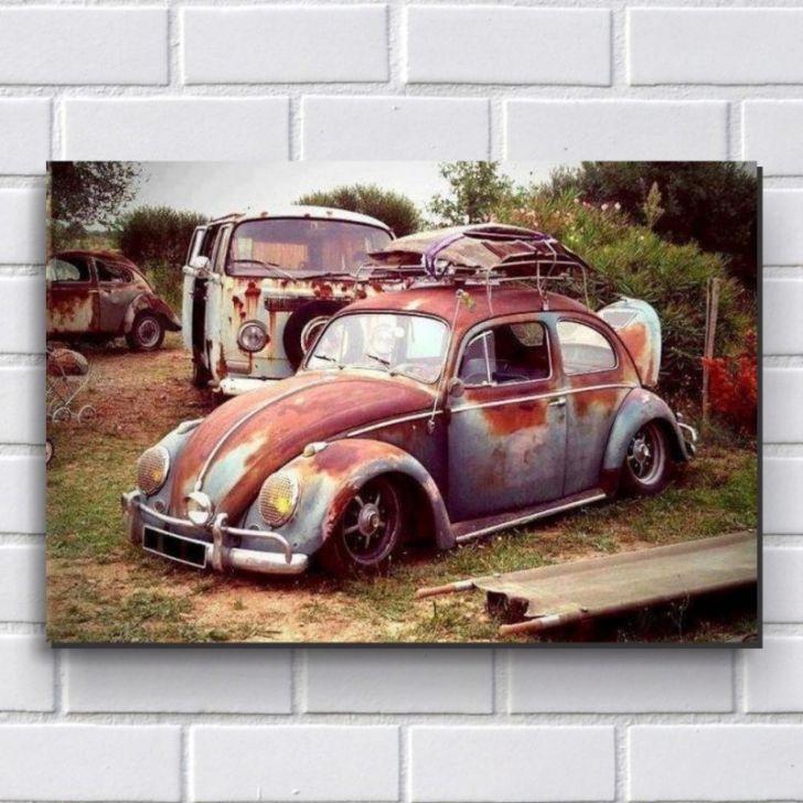 Placa Decorativa P510 - Carros - Fusca