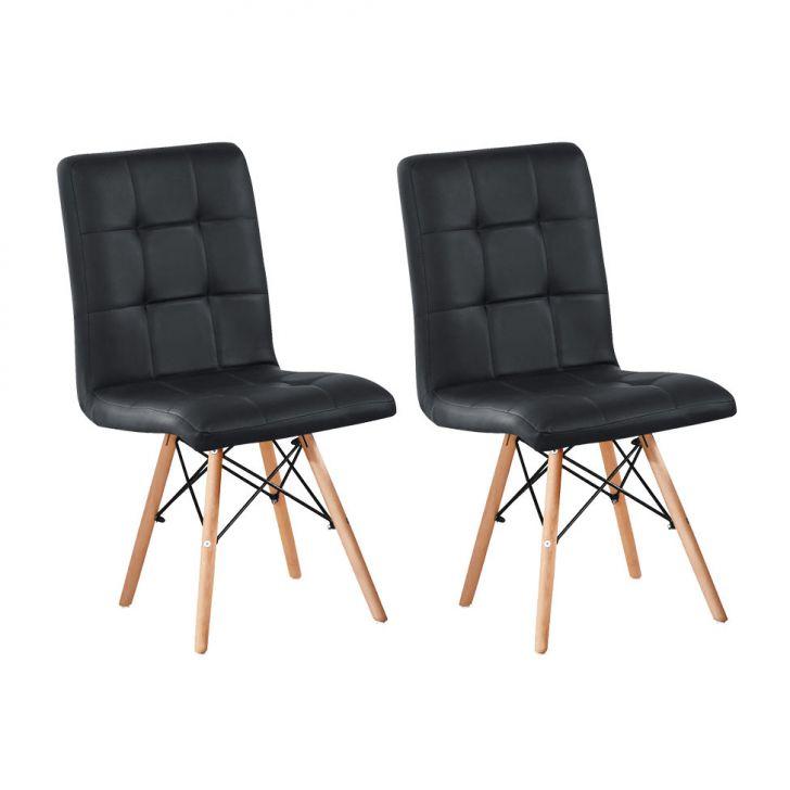 Conjunto Com 2 Cadeiras Fitz Eiffel Preto