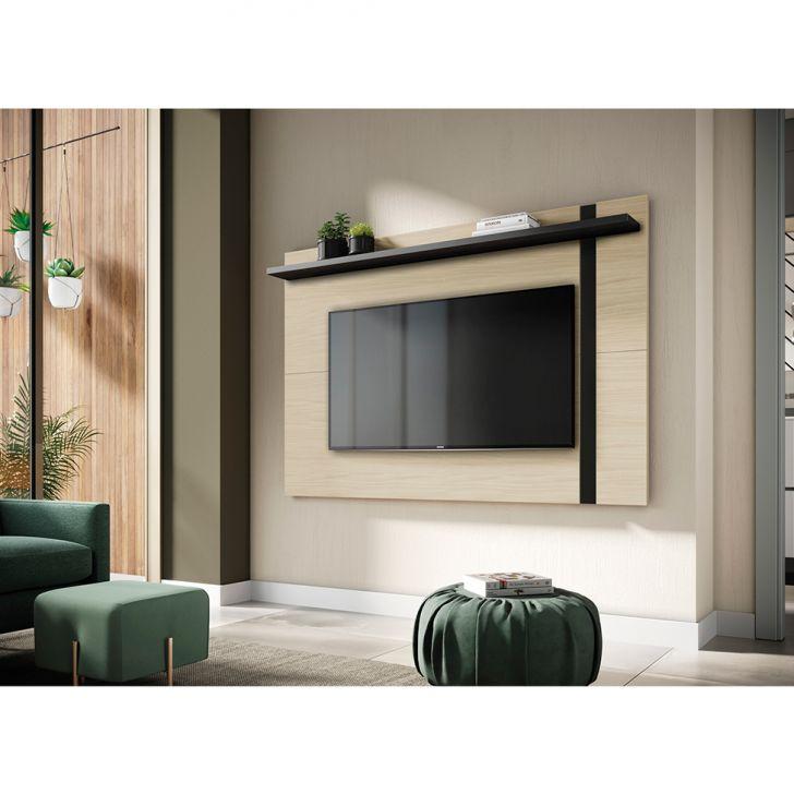 Painel Extensível Para Tv Até 60 Polegadas Leme Tauari E Preto Fosco
