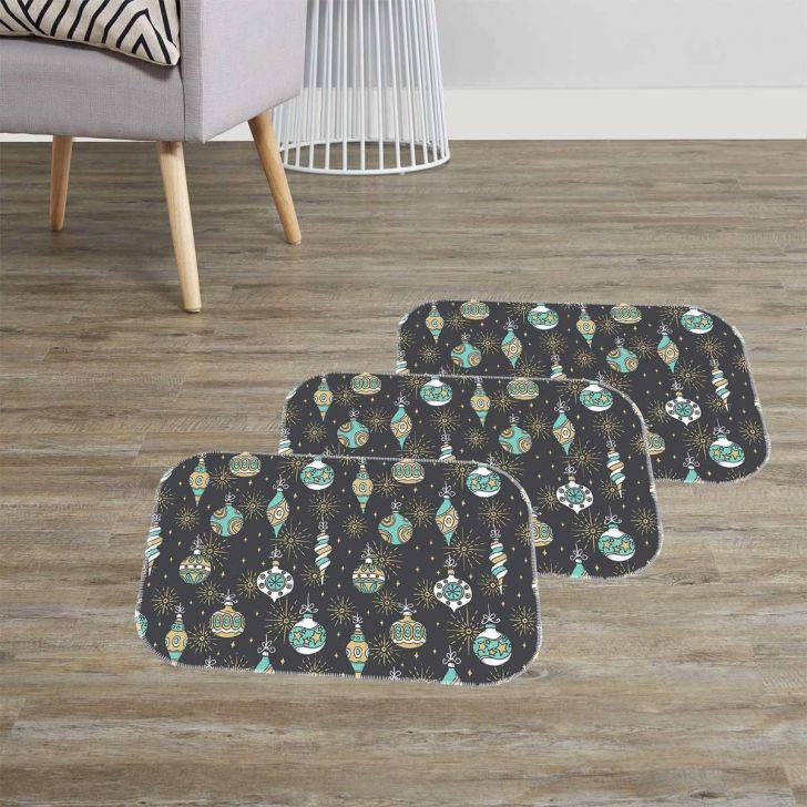 Kit 3 Tapetes Decorativos Enfeites Natalinos Único