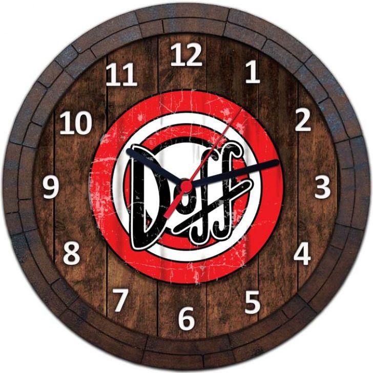 Relógio De Parede Quadro Tampa De Barril Tema Cervejas Vodka Bebidas W-083