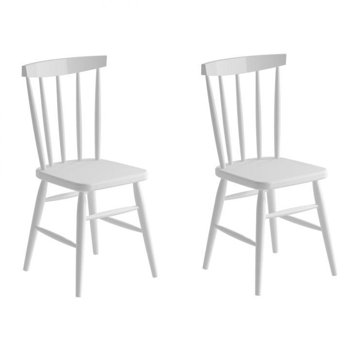 Conjunto Com 2 Cadeiras Campestre Udine Branco