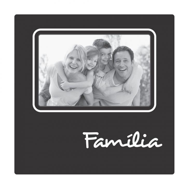 Porta Retrato Plaquet Família Para 1 Foto 10x15 Preto Kapos