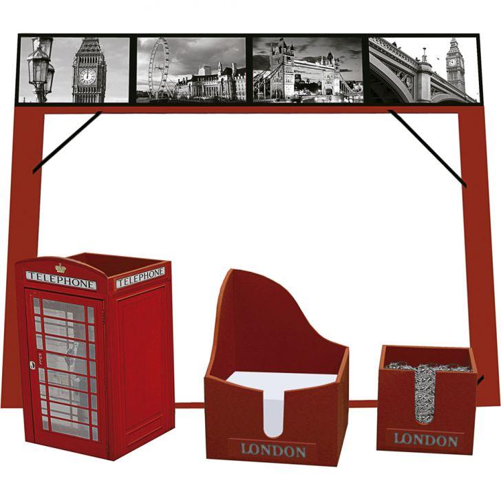 Kit Office Londres Vermelho