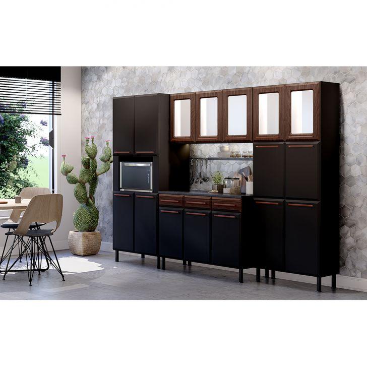 Cozinha Completa Amore 16 Pt 3 Gv Preta E Malbec
