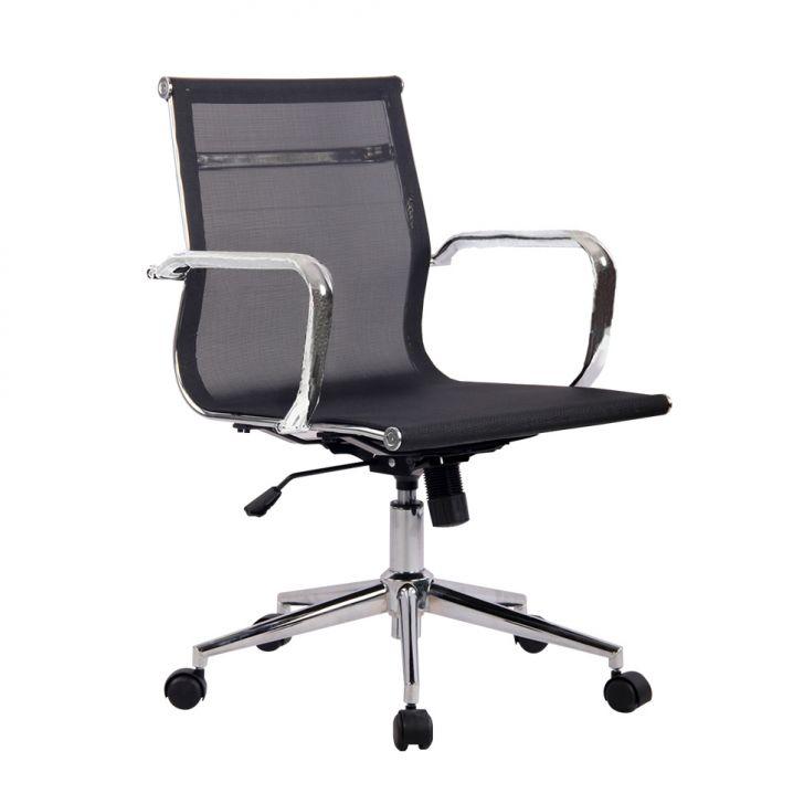 Cadeira De Escritório Diretor Giratória Eames Star Preta