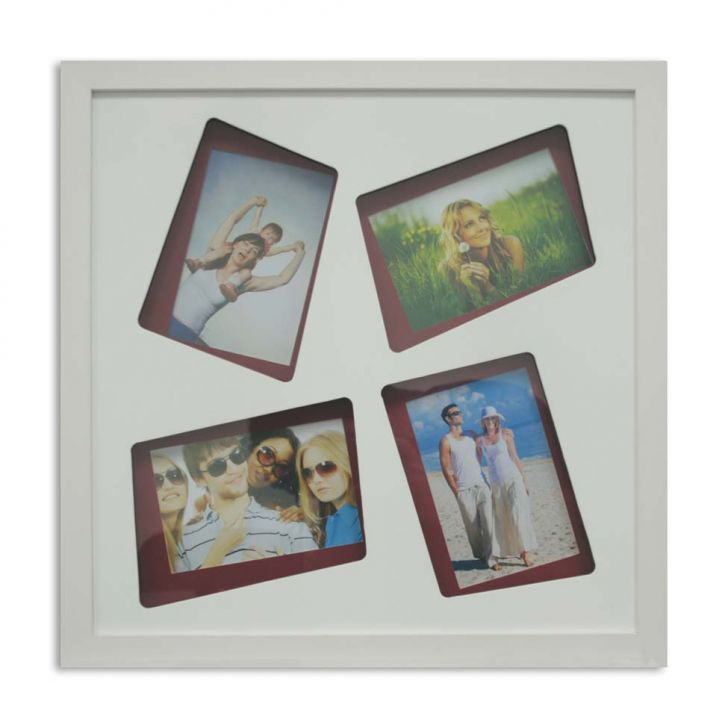 Painel Layer 4 Fotos 10x15cm  Branco, Vermelho Kapos