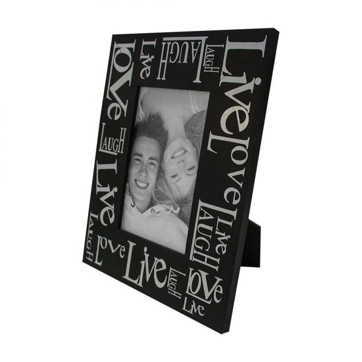 Porta Retrato Love Live19x24cm Preto Para 1 Foto 10x15