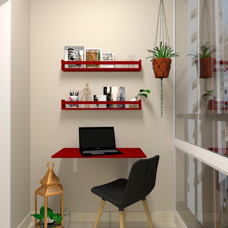 Mesa Para Notebook Dobrável Kitcubos Vermelha 60 Cm