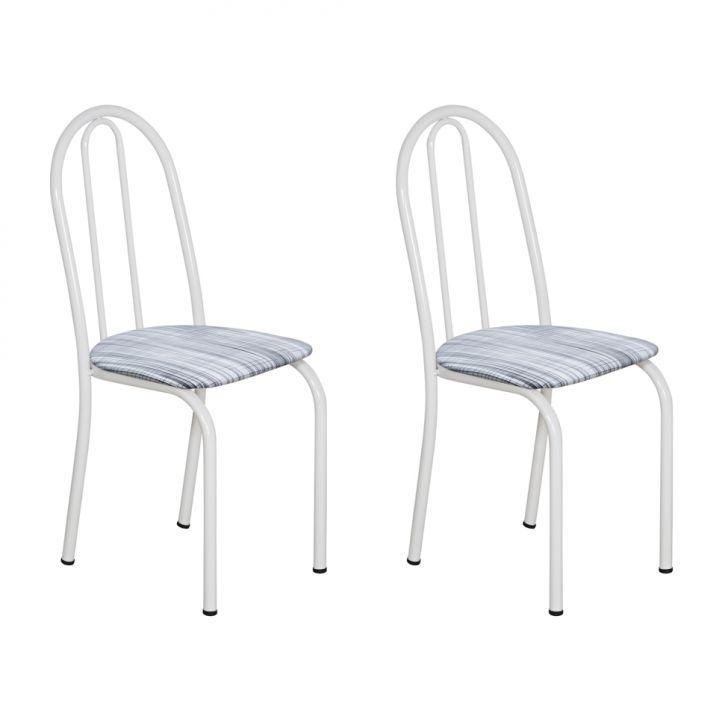 Conjunto 2 Cadeiras Éos Branco E Linho