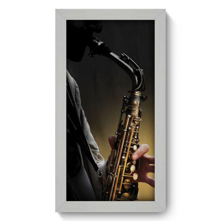 Quadro Decorativo - Saxofone - 002qdgb