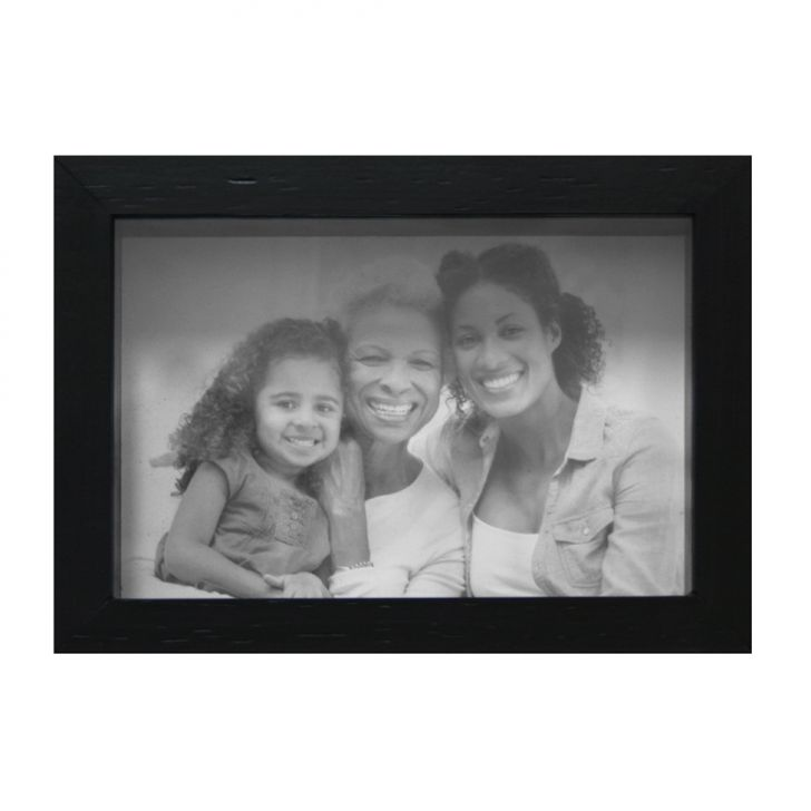 Porta Retrato Caixa Liso 10x15 Preto