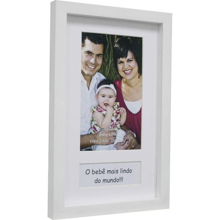 Porta-retrato Painel Baby Love 10x15 Cm Branco