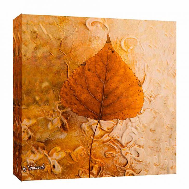 Quadro Impressão Digital Folha Ii Terra Terra 30x30cm Uniart